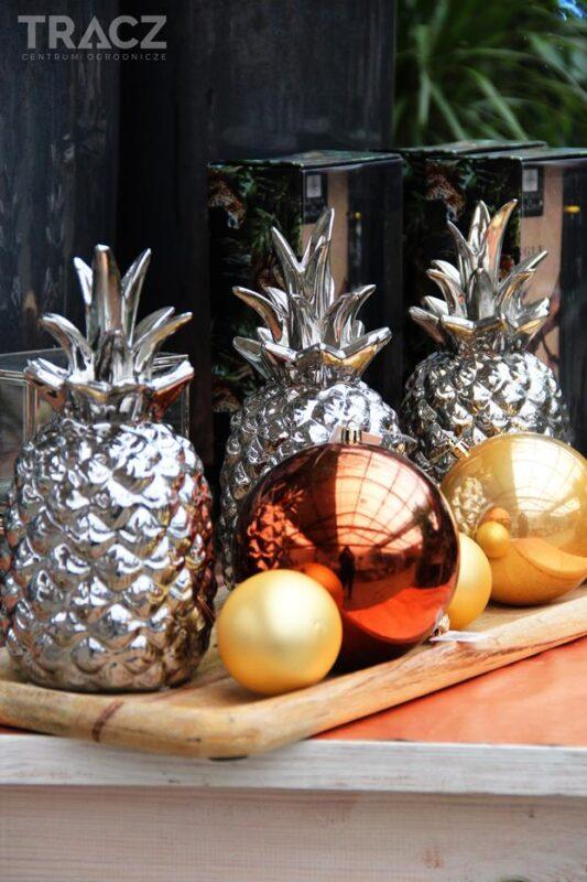 ananasy srebrna dekoracja