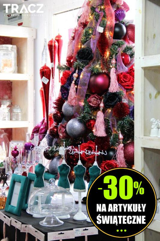rabat 30% na dekoracje świąteczne