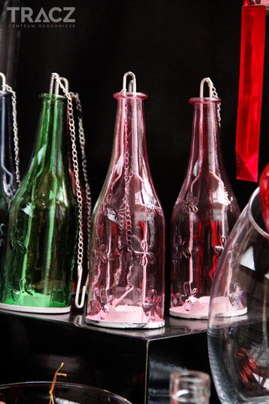 wiszące butelki, dekoracje
