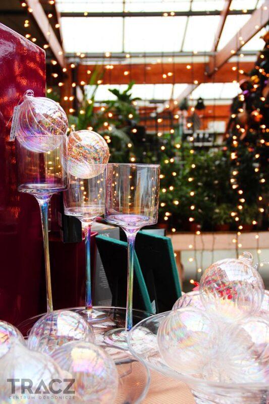 red velvet szklane świeczniki