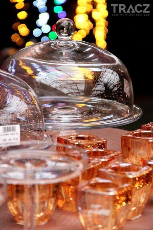 szklane patery, szklane dekoracje
