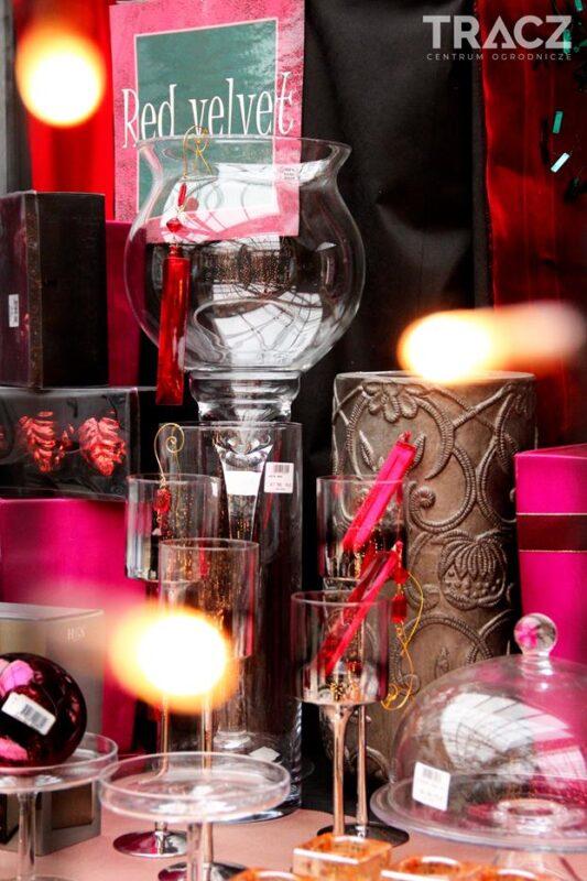 dekoracje bożonarodzeniowe, red velvet