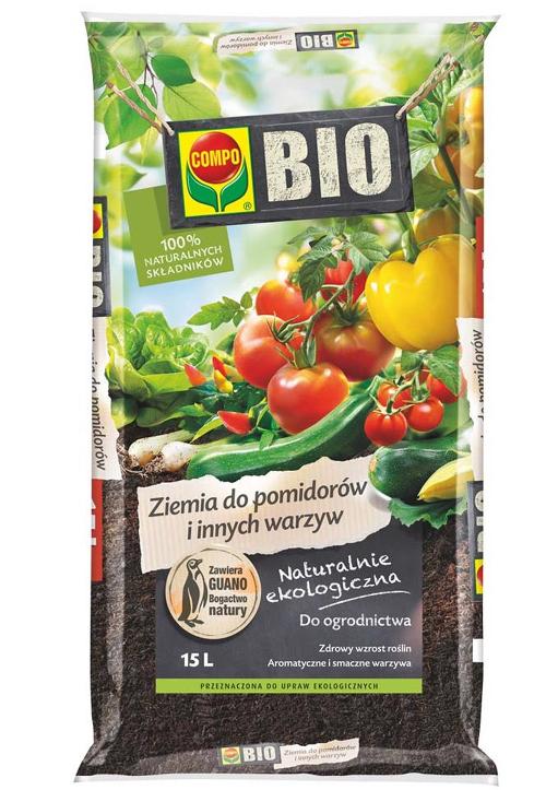 COMPO BIO Ziemia do pomidorów i innych warzyw 15L NATURALNIE EKOLOGICZNA