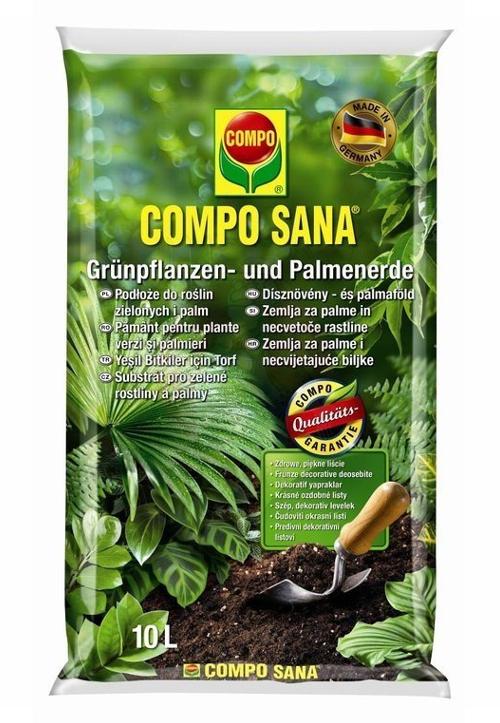 COMPO Podłoże do roślin zielonych i palm 10L