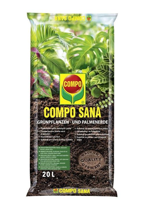 COMPO SANA Podłoże do roślin zielonych i palm 20L