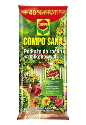 COMPO SANA Podłoże do roślin balkonowych 35L + 40% GRATIS