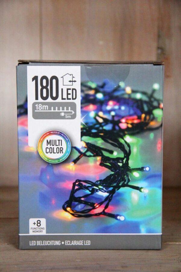 Lampki choinowe łańcuch 180 LED zewnętrzne wielokolorowe