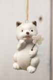 Zwierzątko ceramiczne kot zawieszka
