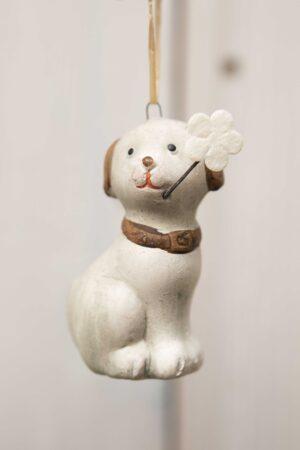 Zwierzątko ceramiczne pies zawieszka